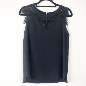 Brixon Ivy Black Lace Blouse (Stitch Fix) Size S